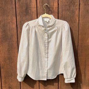 Vintage Striped Button Down | Women's Medium
